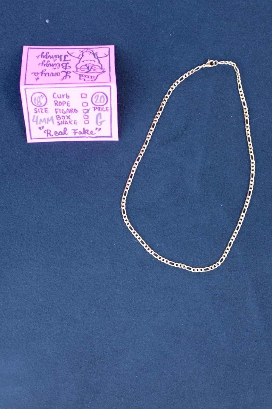 Figaro Necklace 18 inch 4 mm - Gold | Jewellery by Larry's Blingy Thingy 1