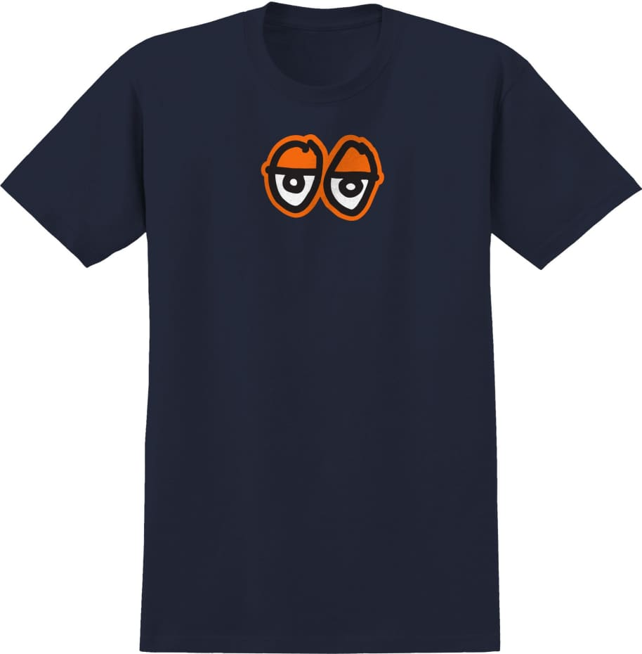 KROOKED Eyes Large Tee Navy/Orange | T-Shirt by Krooked Skateboards 1