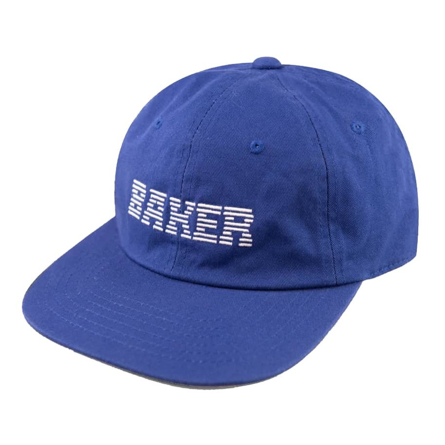 Baker Big Blue Royal Strapback Hat | Baseball Cap by Baker Skateboards 1