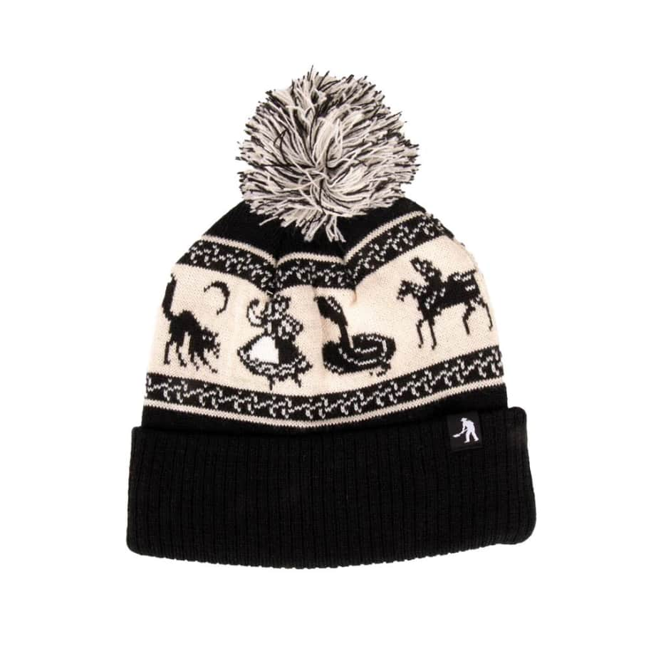 Pass~Port Doily Pompom Beanie - Black | Beanie by Pass~Port Skateboards 1