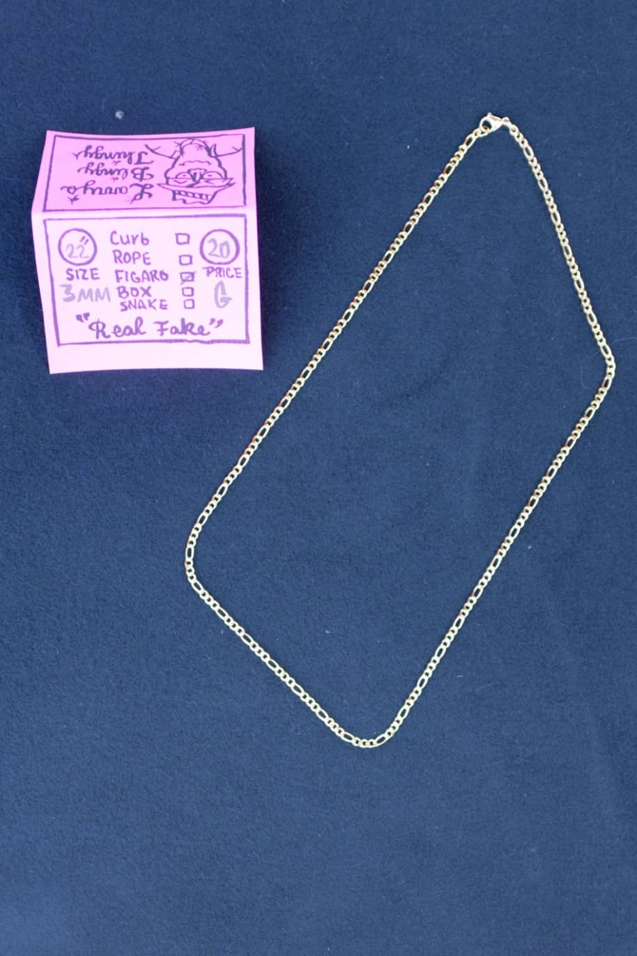 Figaro Necklace 22 inch 3 mm - Gold | Jewellery by Larry's Blingy Thingy 1