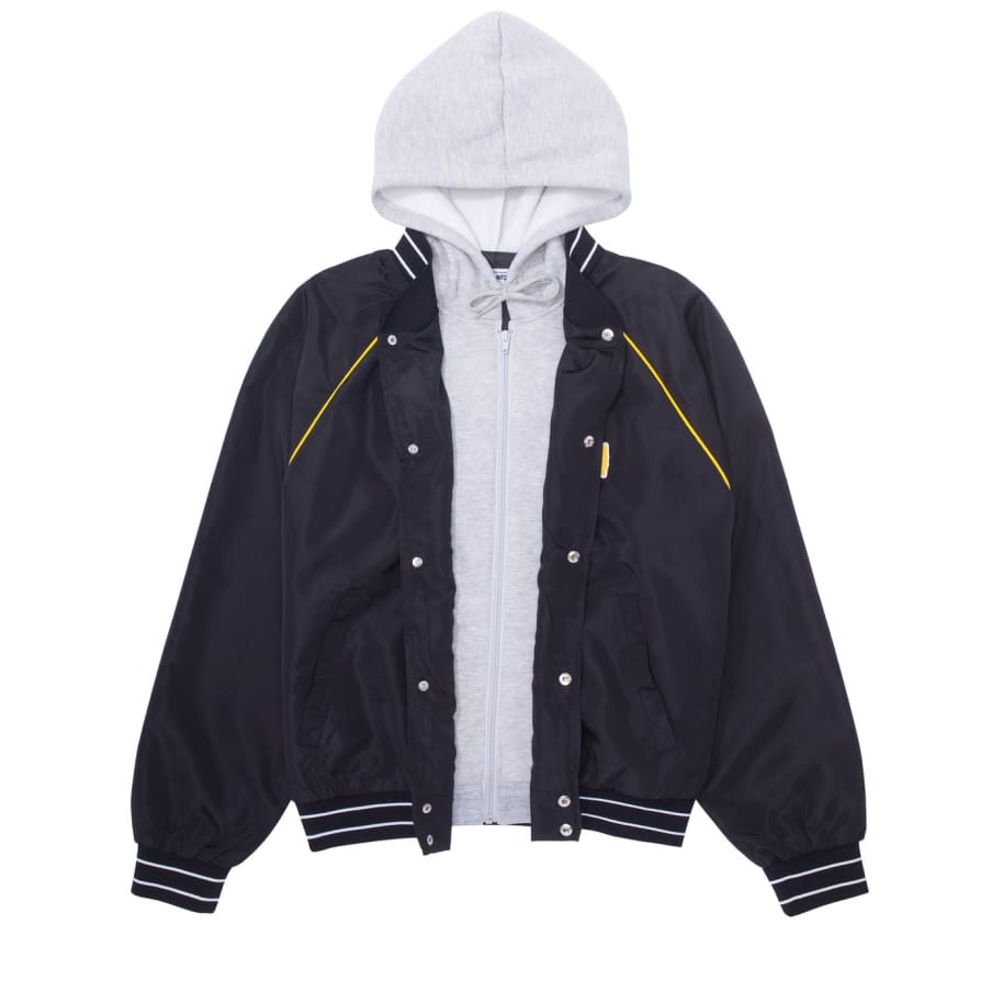 Fucking Awesome Okayama Bomber Jacket - Black / Heather Grey | Jacket by Fucking Awesome 2