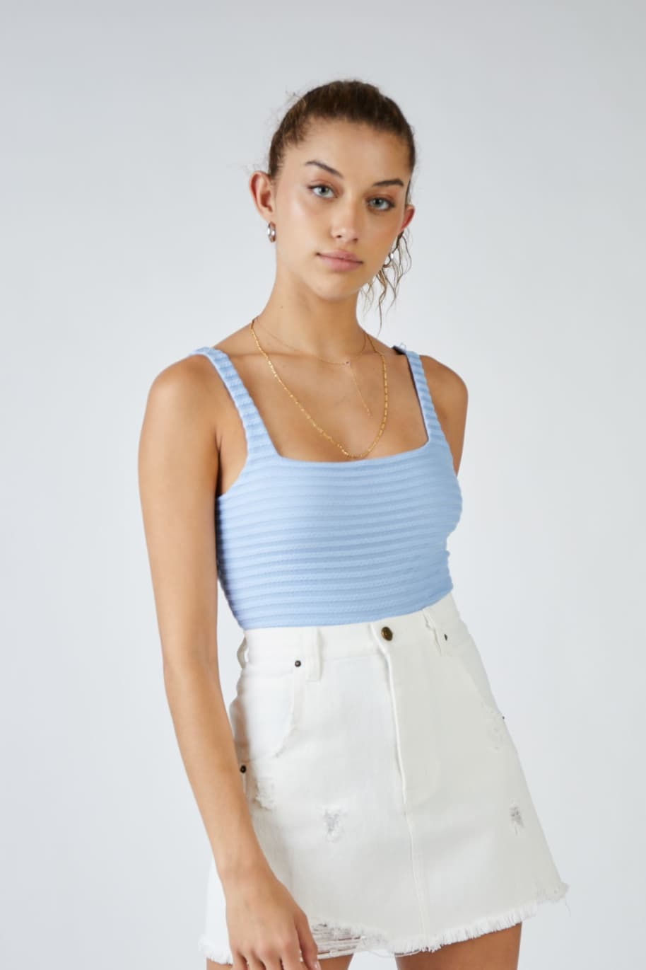 Sage The Label Emily Denim Mini Skirt | Skirt by Sage The Label 1