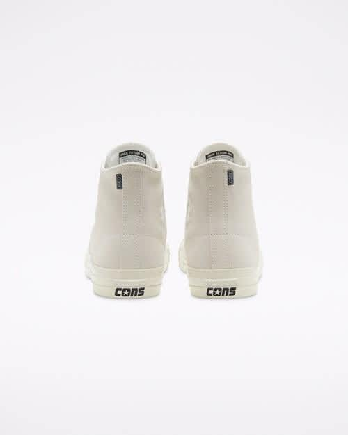 Converse CONS CTAS Pro High Top Shoes - Egret / Egret / Gum | Shoes by Converse Cons 4