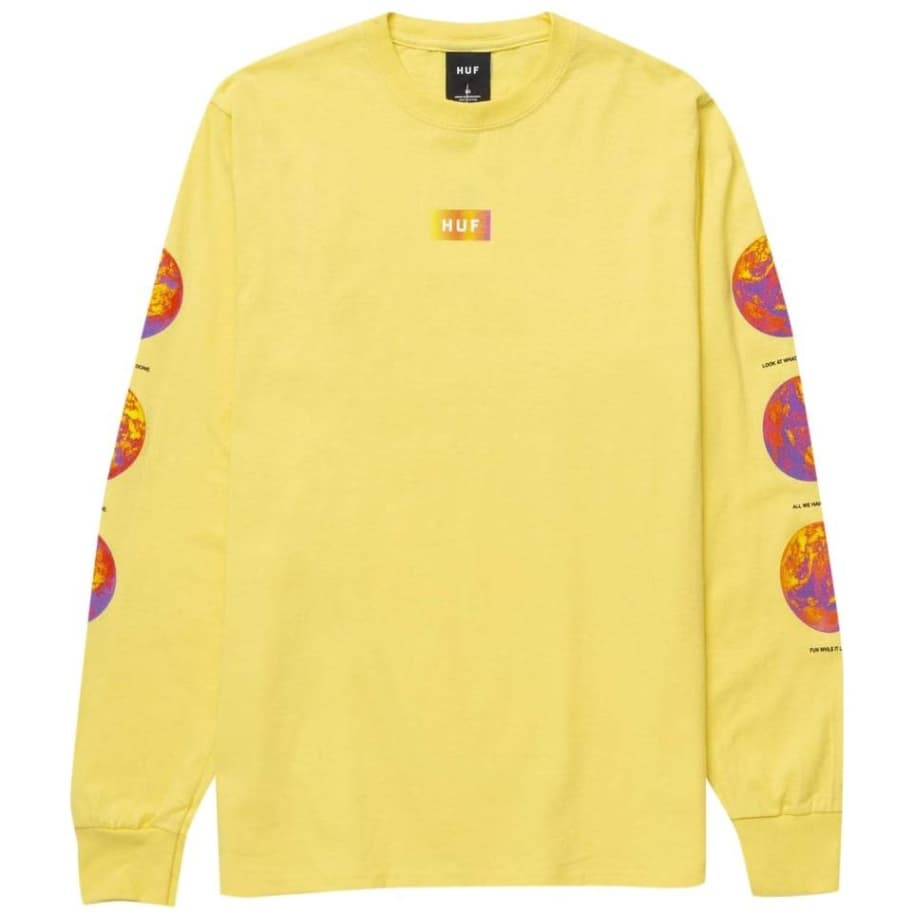 Climate Meltdown Long Sleeve T-Shirt - Yellow | Longsleeve by HUF 1