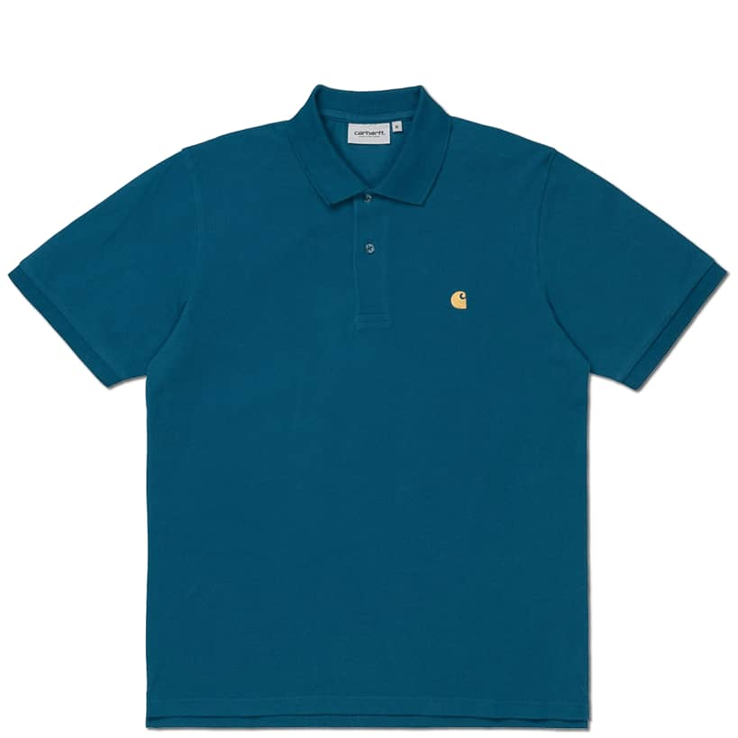 Carhartt WIP Chase Pique S/S Polo - Corse / Gold | Polo Shirt by Carhartt WIP 1