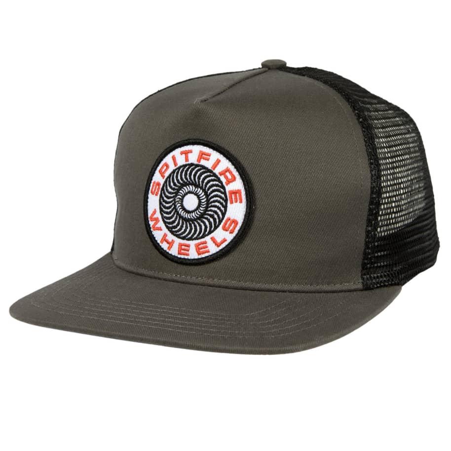 SPITFIRE Classic 87 Swirl Patch Trucker Hat Charcoal | Trucker Cap by Spitfire Wheels 1