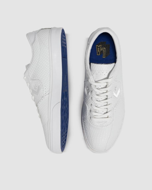 Converse CONS Louie Lopez Pro Leather Low Top Shoes - White / Rush Blue / Amarillo | Shoes by Converse Cons 6