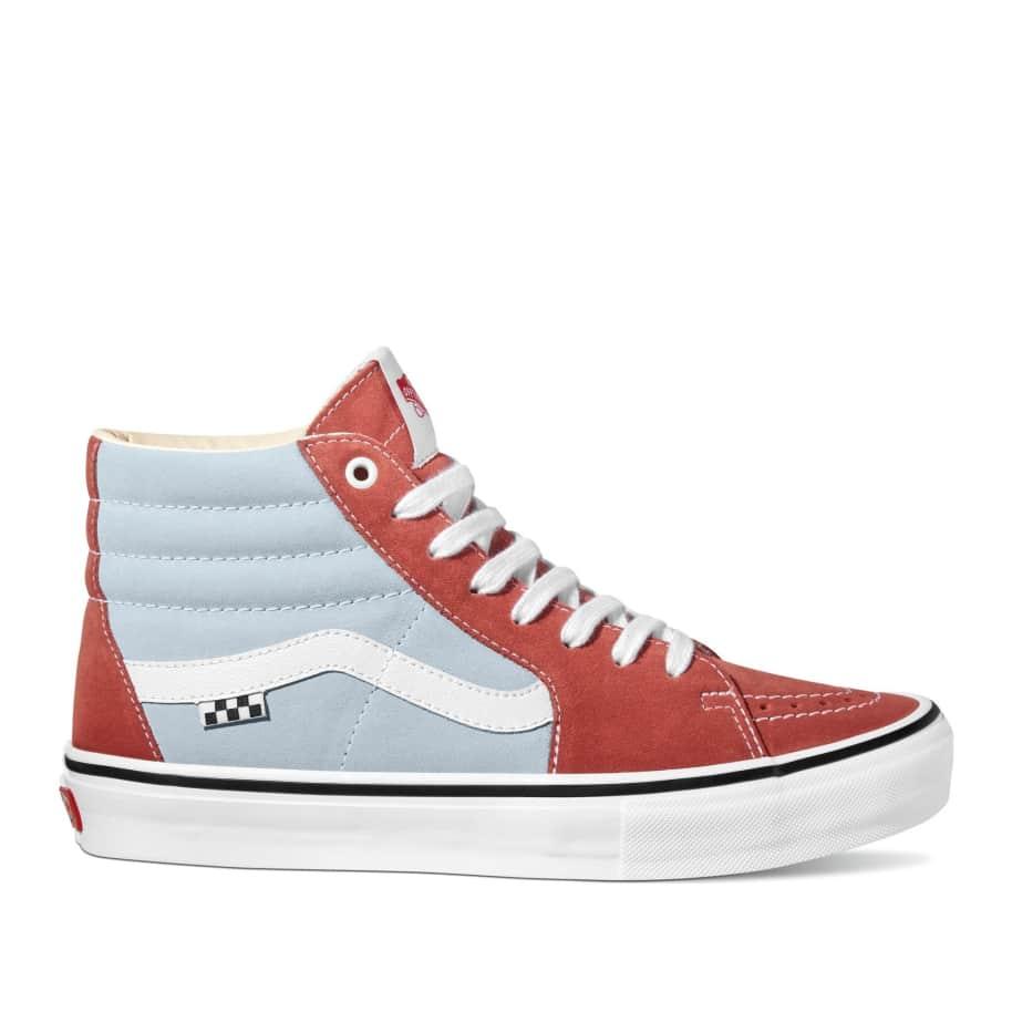 Vans Skate Sk8-Hi Shoes - Blue / Brown   Shoes by Vans 1