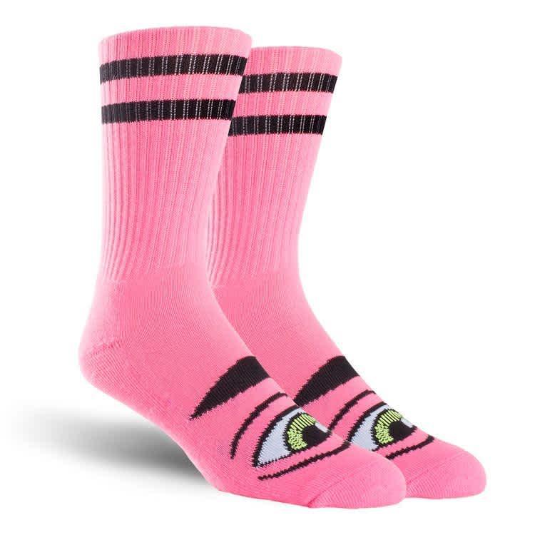 Toy Machine Sect Eye Crew Sock Pink | Socks by Toy Machine 1