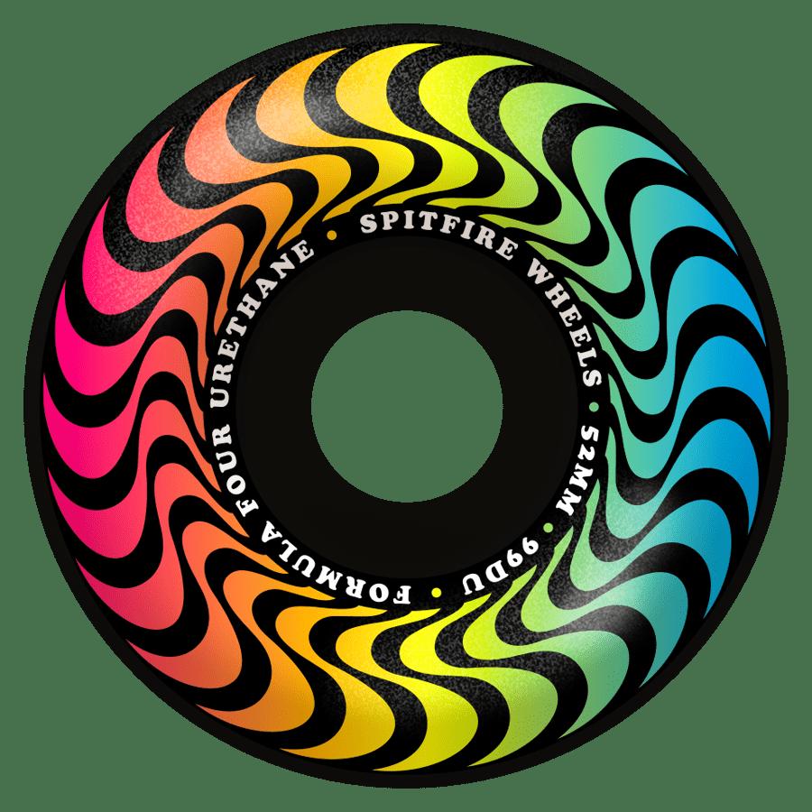SPITFIRE Trippy Swirl Radial Formula Four Wheels Black   Wheels by Spitfire Wheels 1