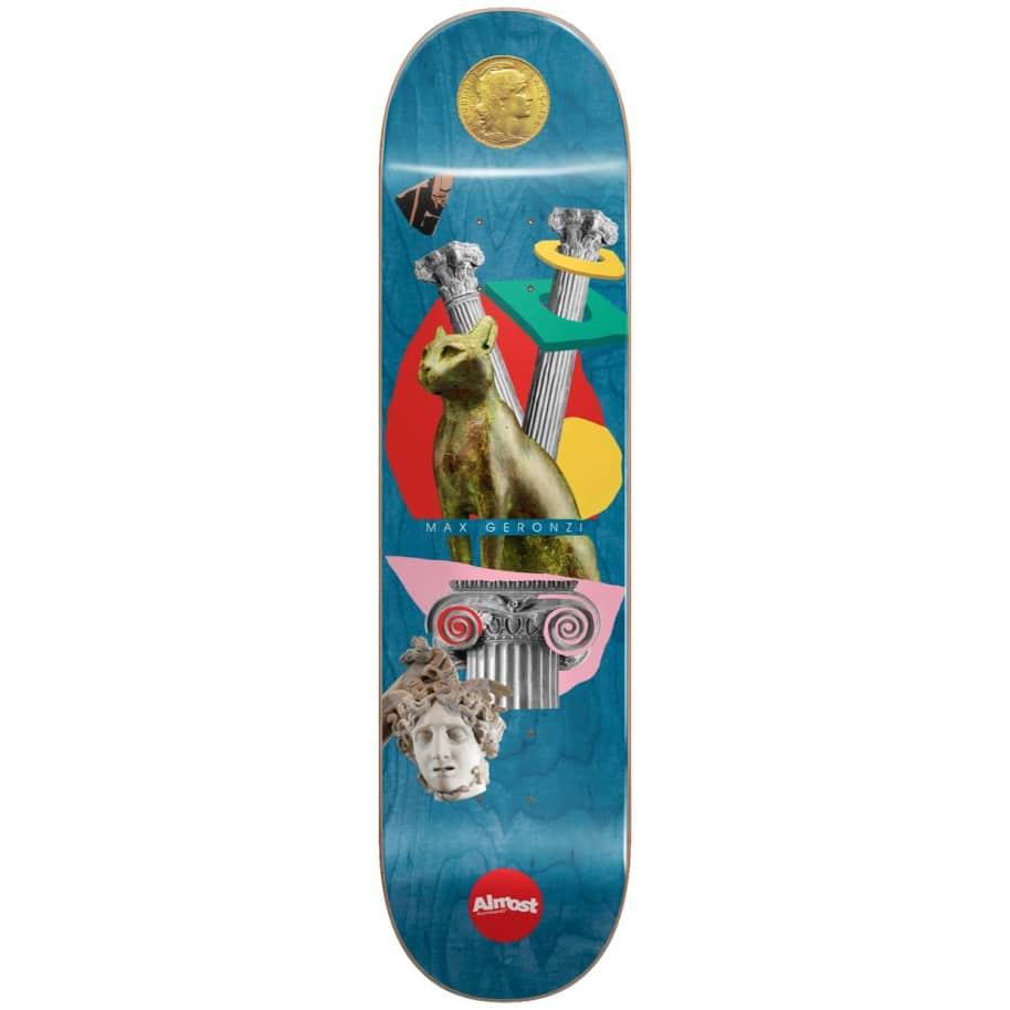 "Almost Skateboards - 8.125"" Relics Max Geronzi Pro Deck (Blue) | Deck by Almost Skateboards 1"