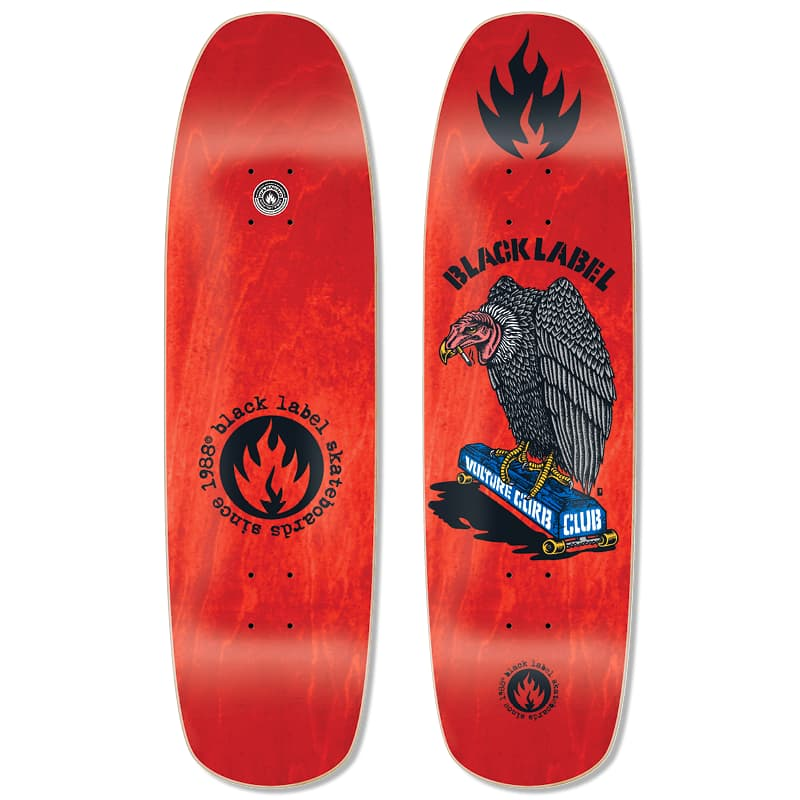 """Black Label Vulture Curb Club Deck (Red Stain) 8.88"""" x 32.25"""" 
