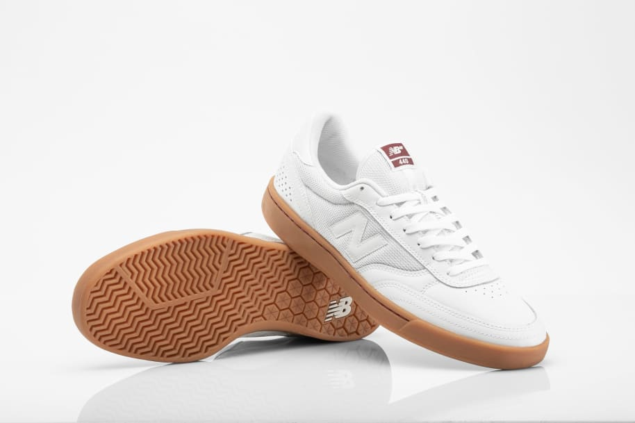 New Balance Numeric 440 Skate Shop Day Shoes - White / Burgundy | Shoes by New Balance 3
