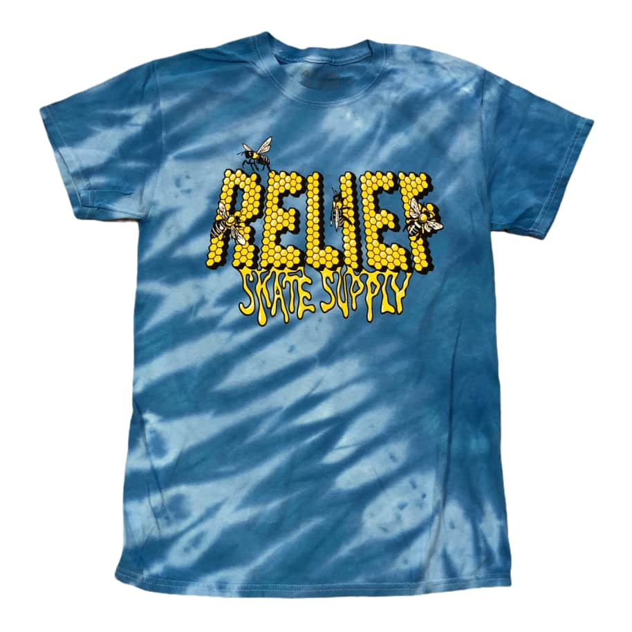 Relief Skate Supply Tiger Stripe Blue Tee | T-Shirt by Relief Skate Supply 1