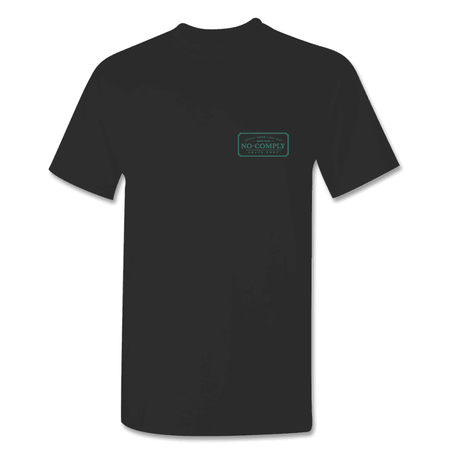 No-Comply Locally Grown Shirt - Black Emerald | T-Shirt by No Comply 2
