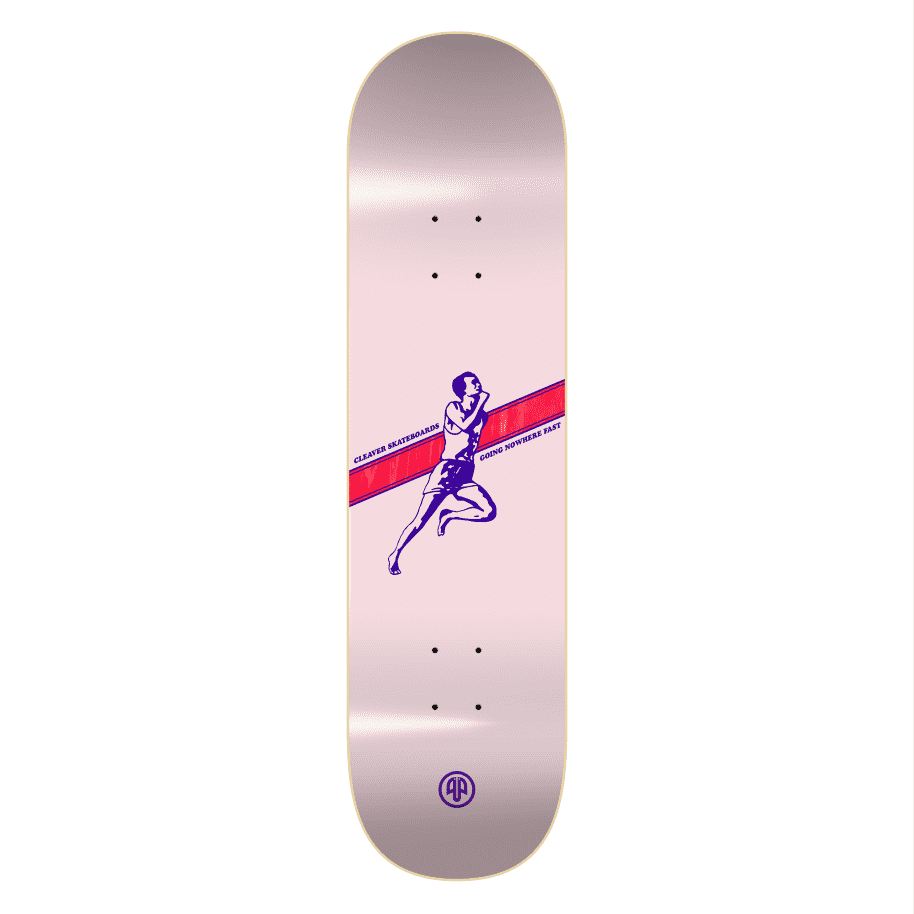 """Cleaver Skateboards - 8.125"""" Going Nowhere Fast Deck - Pink 
