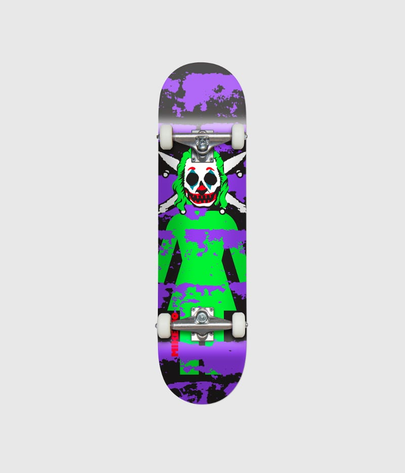 Girl Skateboards Clown Pirate Complete Skateboard 7.875"