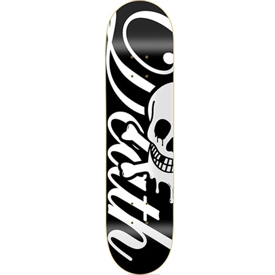 Death Skateboards Script Deck | Black | 8.25"