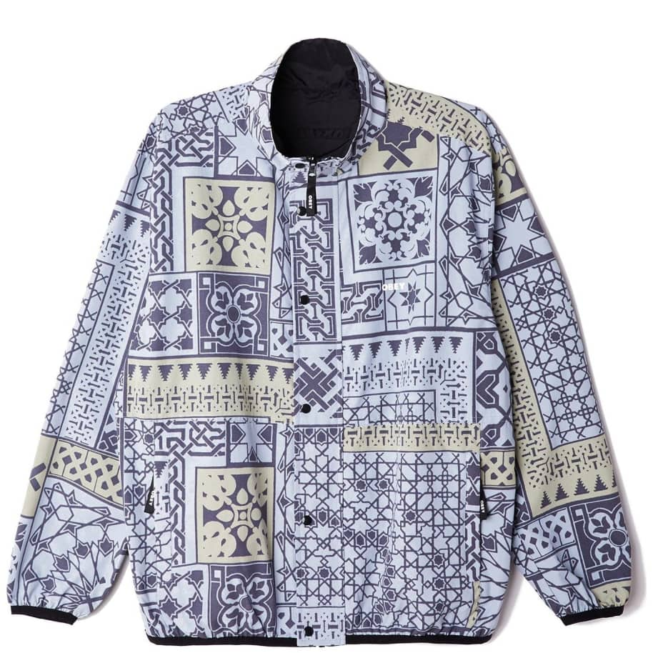 OBEY Patchwork Reversible Jacket - Black / Navy   Jacket by OBEY Clothing 1