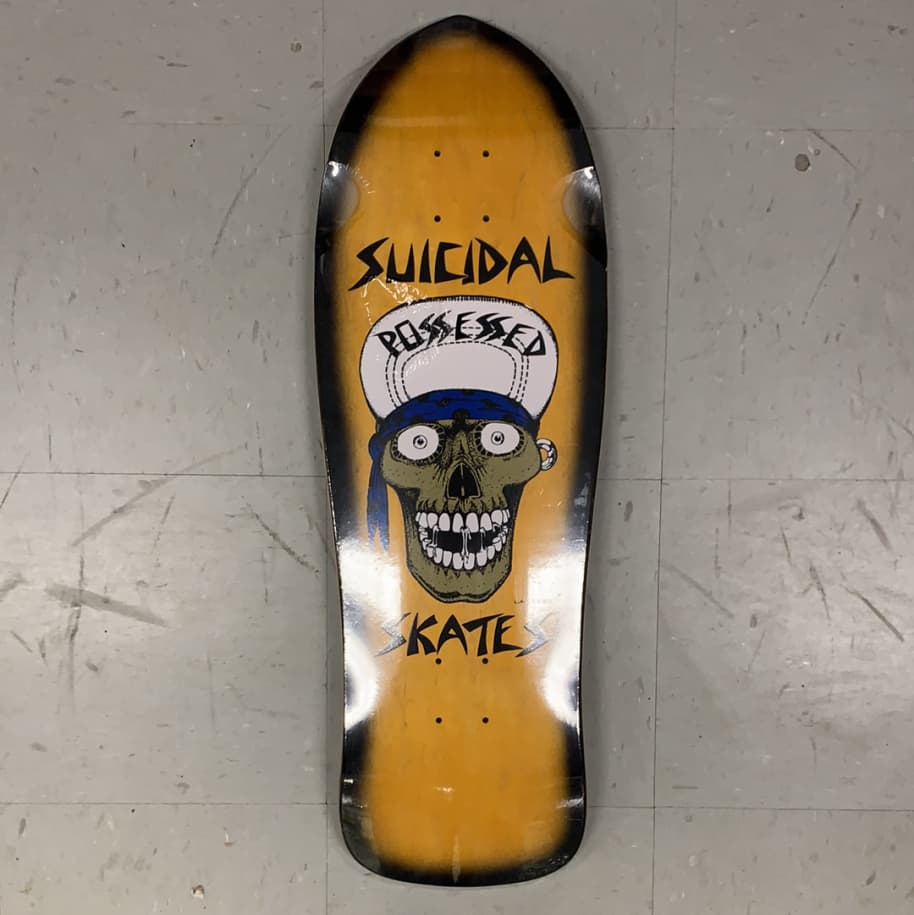 Dogtown Skateboards Suicidal Punk Skull Reissue Shaped Pool Deck 10.125 | Deck by Dogtown 1