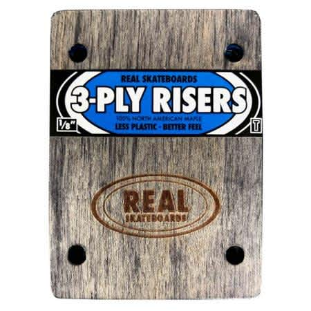 Real 3-Ply Wooden Thunder Riser Pads (sold as a set) | Riser Pads by Real Skateboards 1