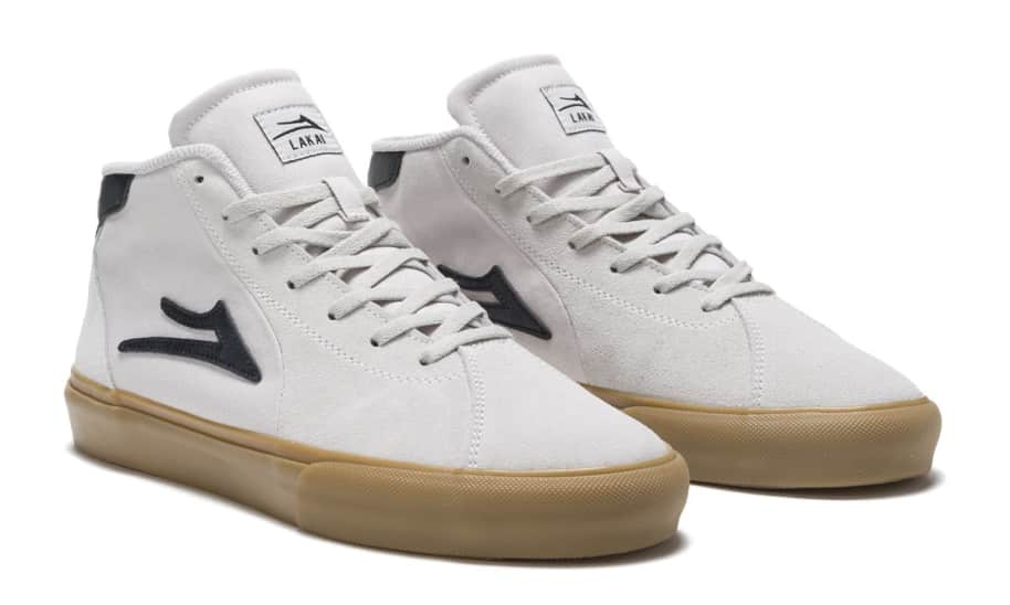 Lakai Flaco 2 Mid Skate Shoes - White / Gum | Shoes by Lakai 2