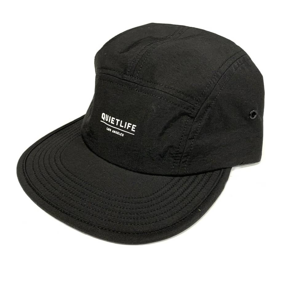 The Quiet Life Foundation Camper Panel Hat - Black | Baseball Cap by The Quiet Life 1