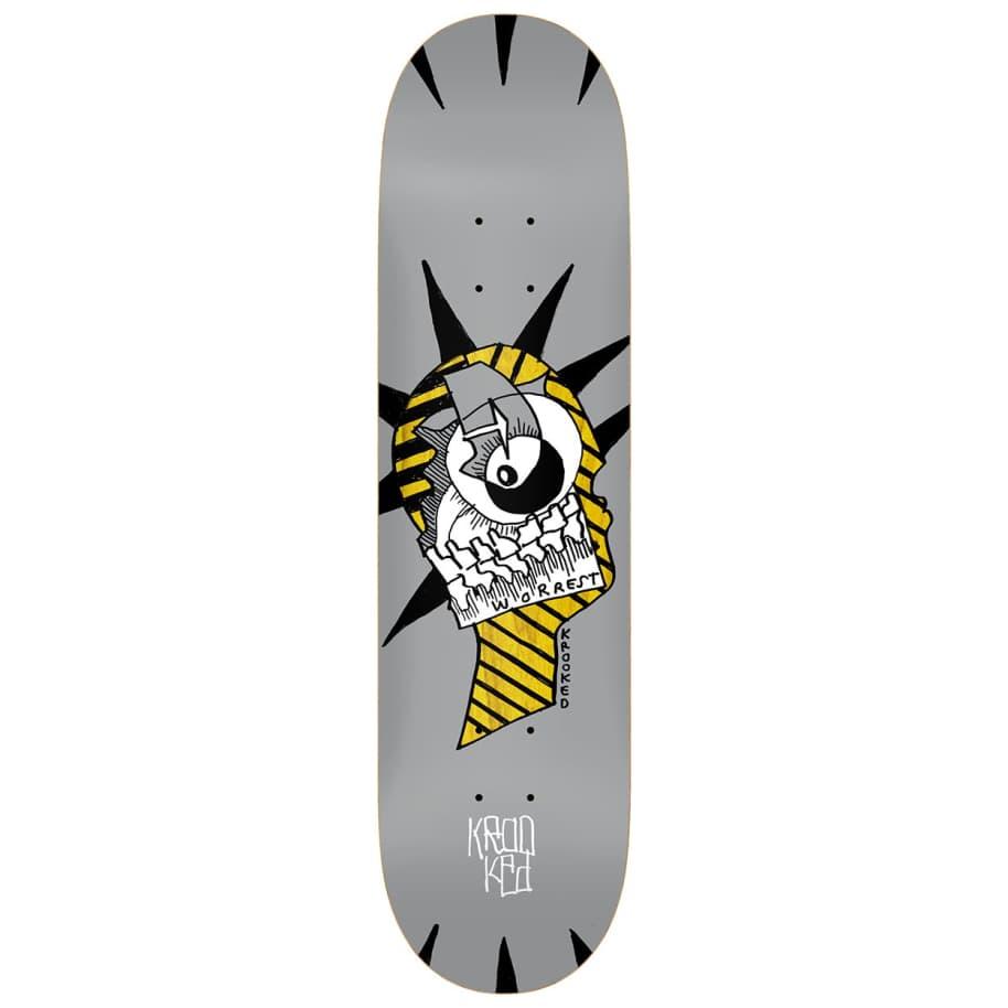 """Krooked Worrest Liburty Slick Deck 8.3""""   Deck by Krooked Skateboards 1"""