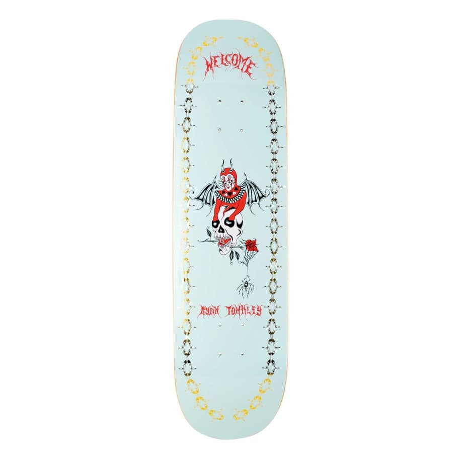 Welcome Angel on Enenra Deck Light Teal/Gold Foil (8.5)   Deck by Welcome Skateboards 1