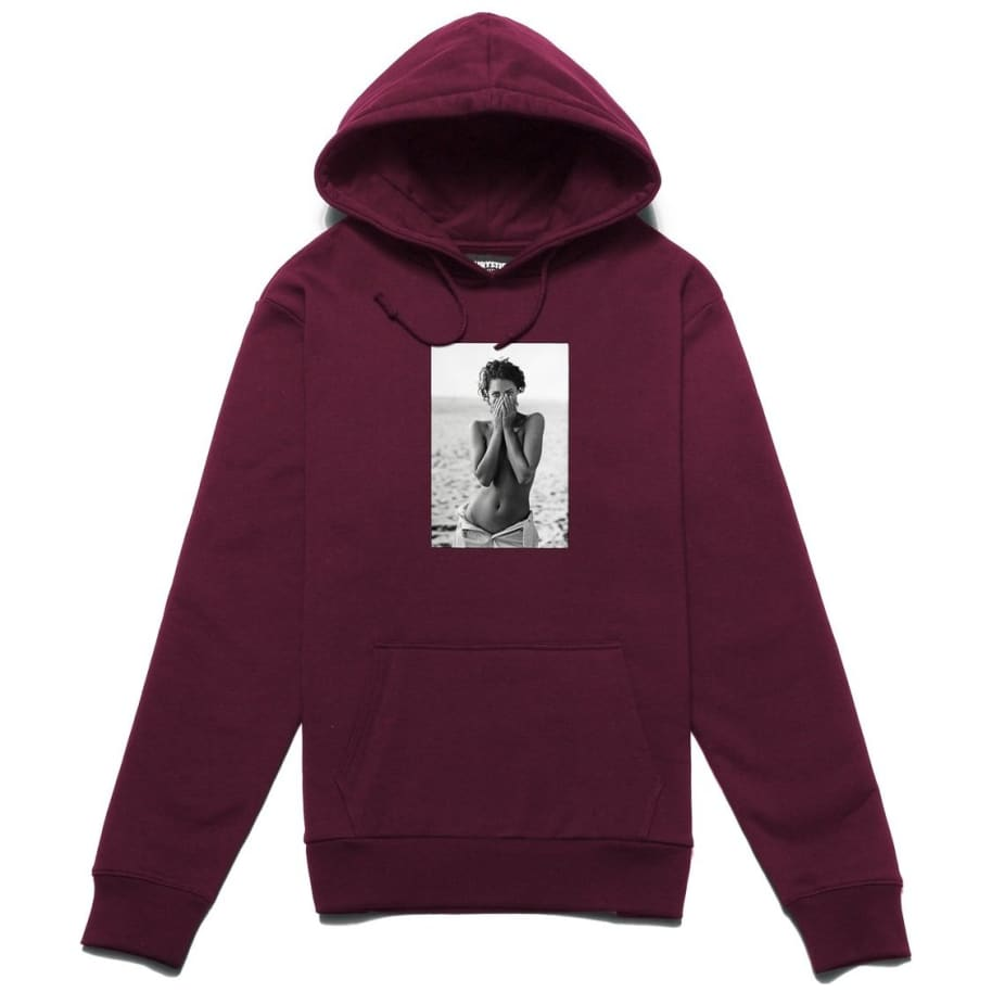 Chrystie NYC Turlington Hoodie - Maroon | Hoodie by Chrystie NYC 1