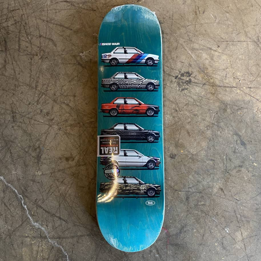Real - Ishod Wair Customs Twin Tail Skateboard Deck - 8.25   Deck by Real Skateboards 1