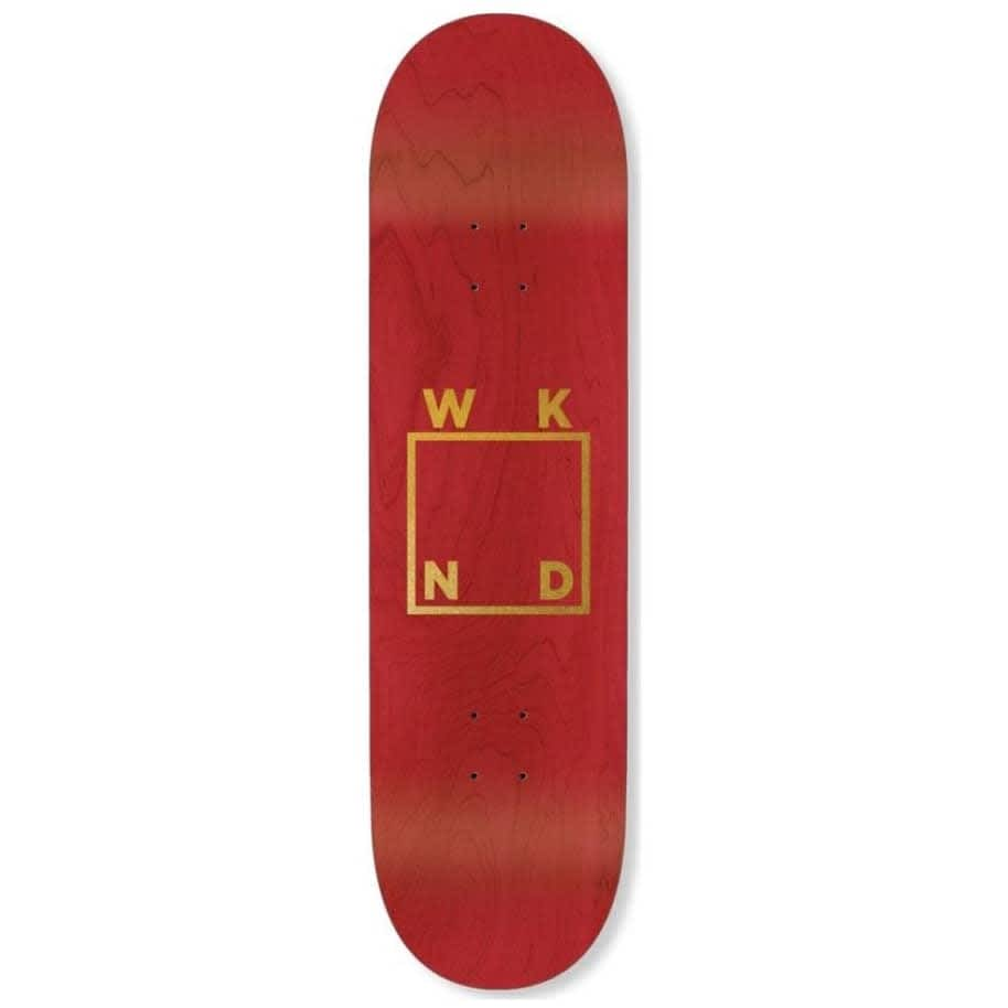 WKND Gold Logo Skateboard Deck - 8.5"