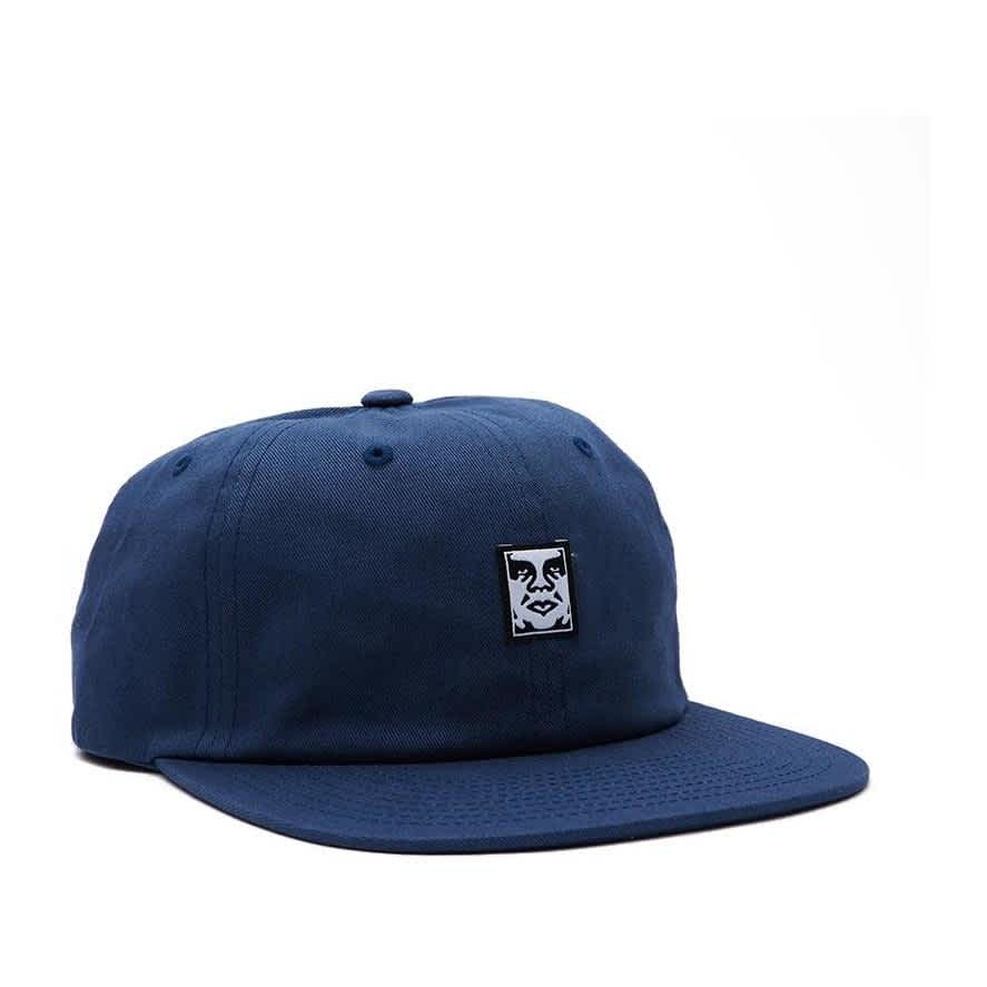 OBEY Icon Face 6 Panel Hat - Dull Blue | Baseball Cap by OBEY Clothing 1