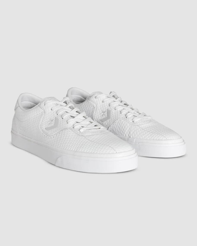 Converse CONS Louie Lopez Pro Leather Low Top Shoes - White / Rush Blue / Amarillo | Shoes by Converse Cons 3