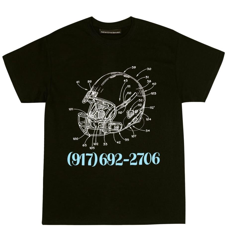 Call Me 917 Football T-Shirt - Black | T-Shirt by Call Me 917 1