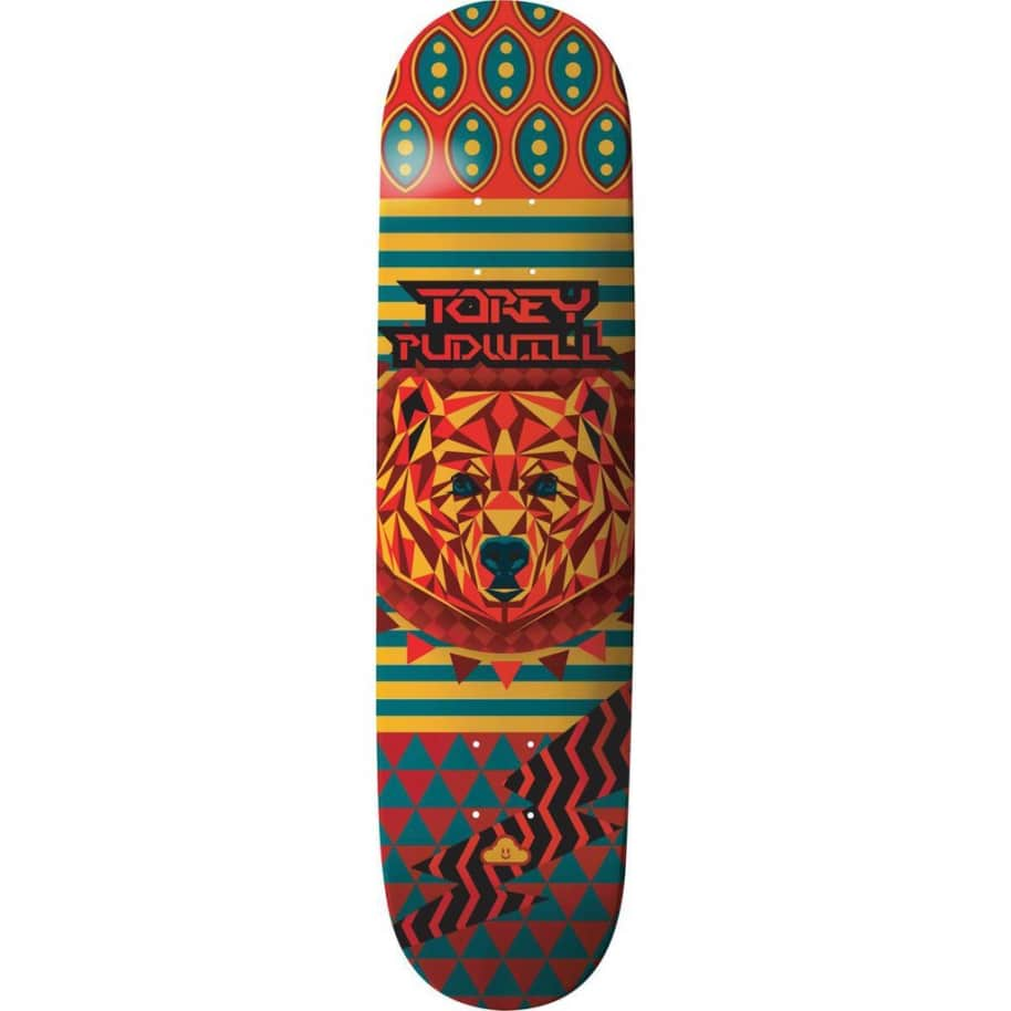 """Thank You - Torey Pudwill Geo Bear Deck (7.75""""/8"""")   Deck by Thank You Skate Co 1"""