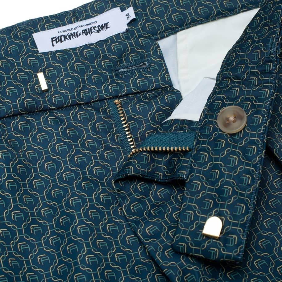 Fucking Awesome Patterned Dress Pants - Navy | Trousers by Fucking Awesome 2