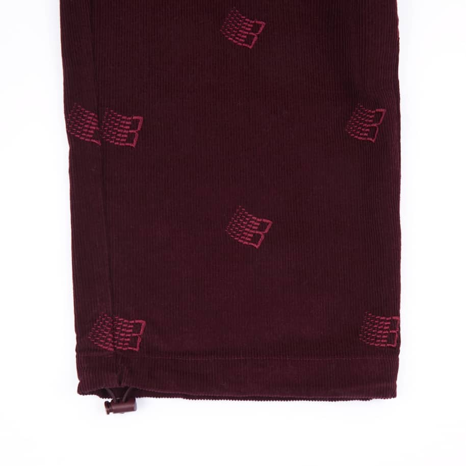 Bronze 56k Allover Embroidered Cord Pants - Maroon | Trousers by Bronze 56k 4