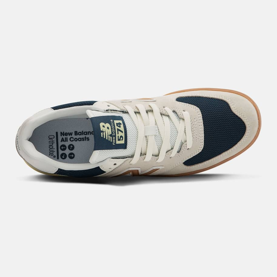 New Balance All Coasts 574 Shoes - White / Gold | Shoes by New Balance 2