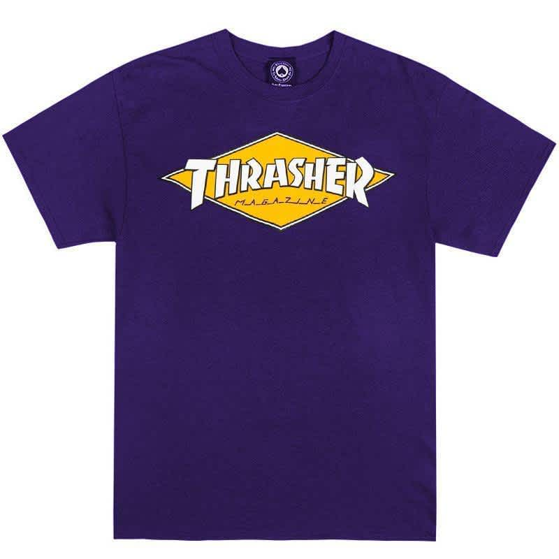 Thrasher Diamond Logo T-Shirt - Purple   T-Shirt by Thrasher 1