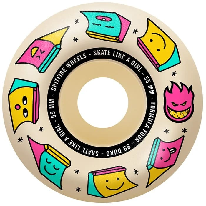Spitfire Fourmula Four Radial Skate Like A Girl Wheels 99d | Wheels by Spitfire Wheels 3