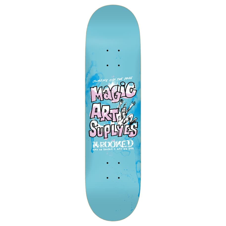 """Krooked - 8.06"""" Magic Art Supplyes   Deck by Krooked Skateboards 1"""