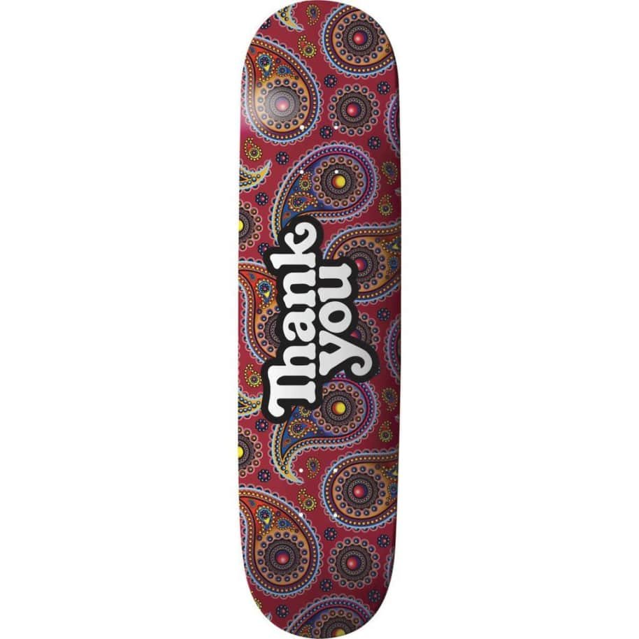 """Thank You - Paisley Logo Deck (8""""/8.125"""")   Deck by Thank You Skate Co 1"""