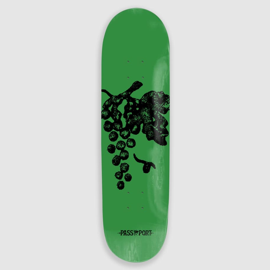 "Pass Port Skateboards - 7.875"" Life Of Leisure Grapes Skateboard Deck 