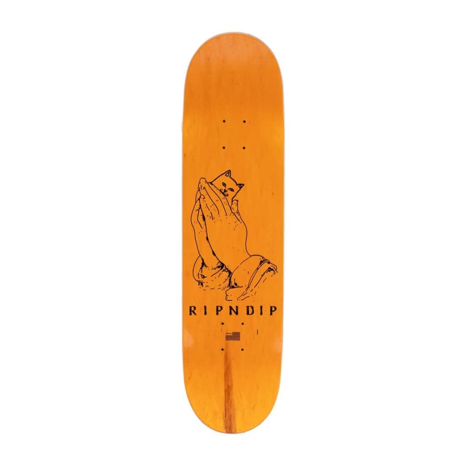 Rip N Dip Lord Nermal Yellow & Blue Skateboard Deck - 8"