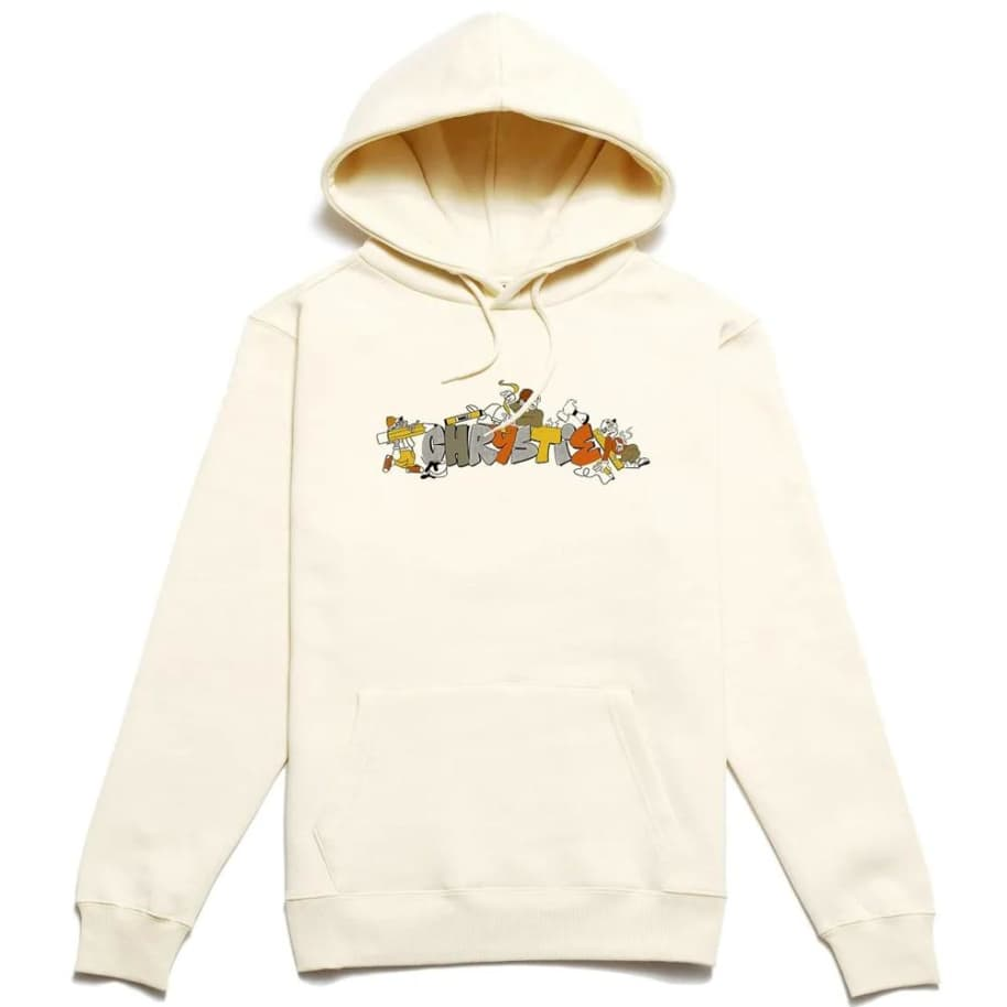 Chrystie NYC NYC Worker Hoodie - Bone | Hoodie by Chrystie NYC 1