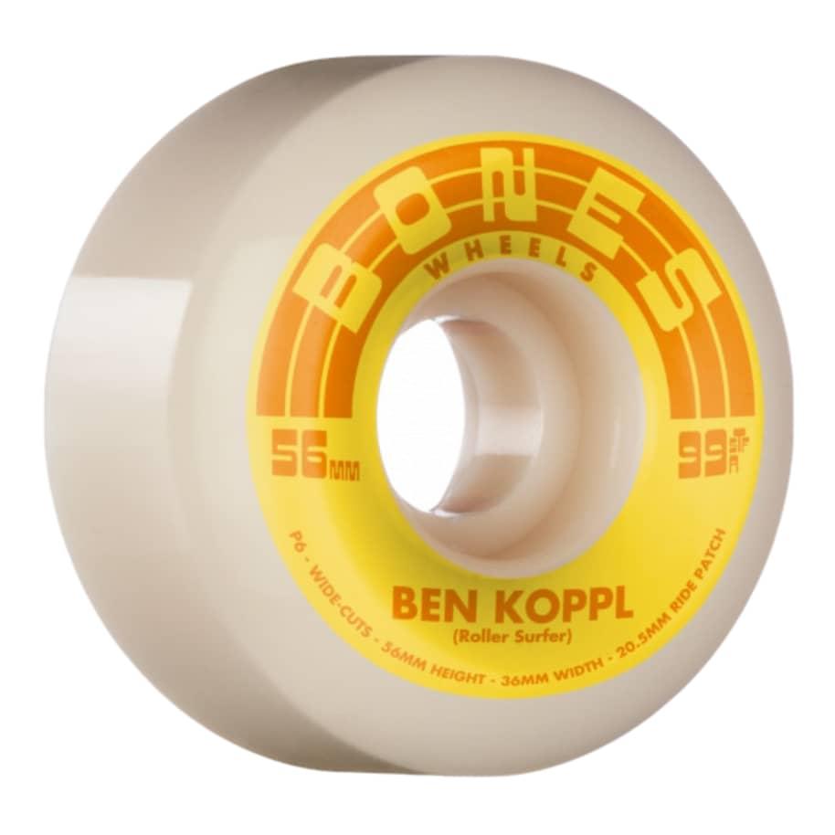 BONES WHEELS PRO STF Skateboard Wheels Koppl Rollersurfer 56mm V6 Wide-Cut 99a | Wheels by BONES 1