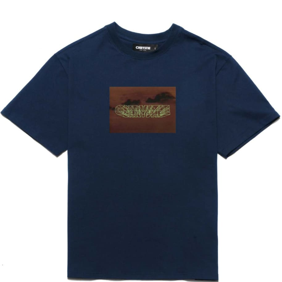 Chrystie NYC Trilogy Logo T-Shirt - Navy | T-Shirt by Chrystie NYC 1