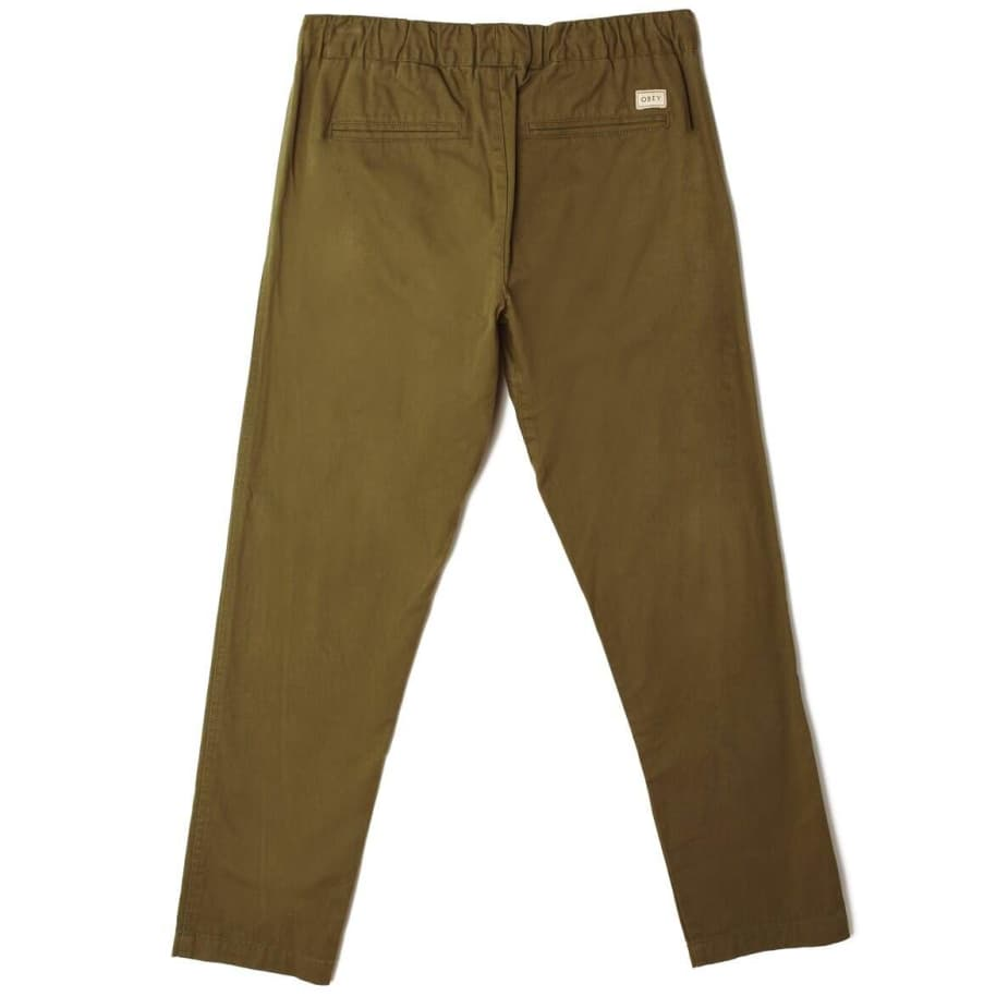 OBEY Ideals Organic Traveler Pant - Army | Trousers by OBEY Clothing 2